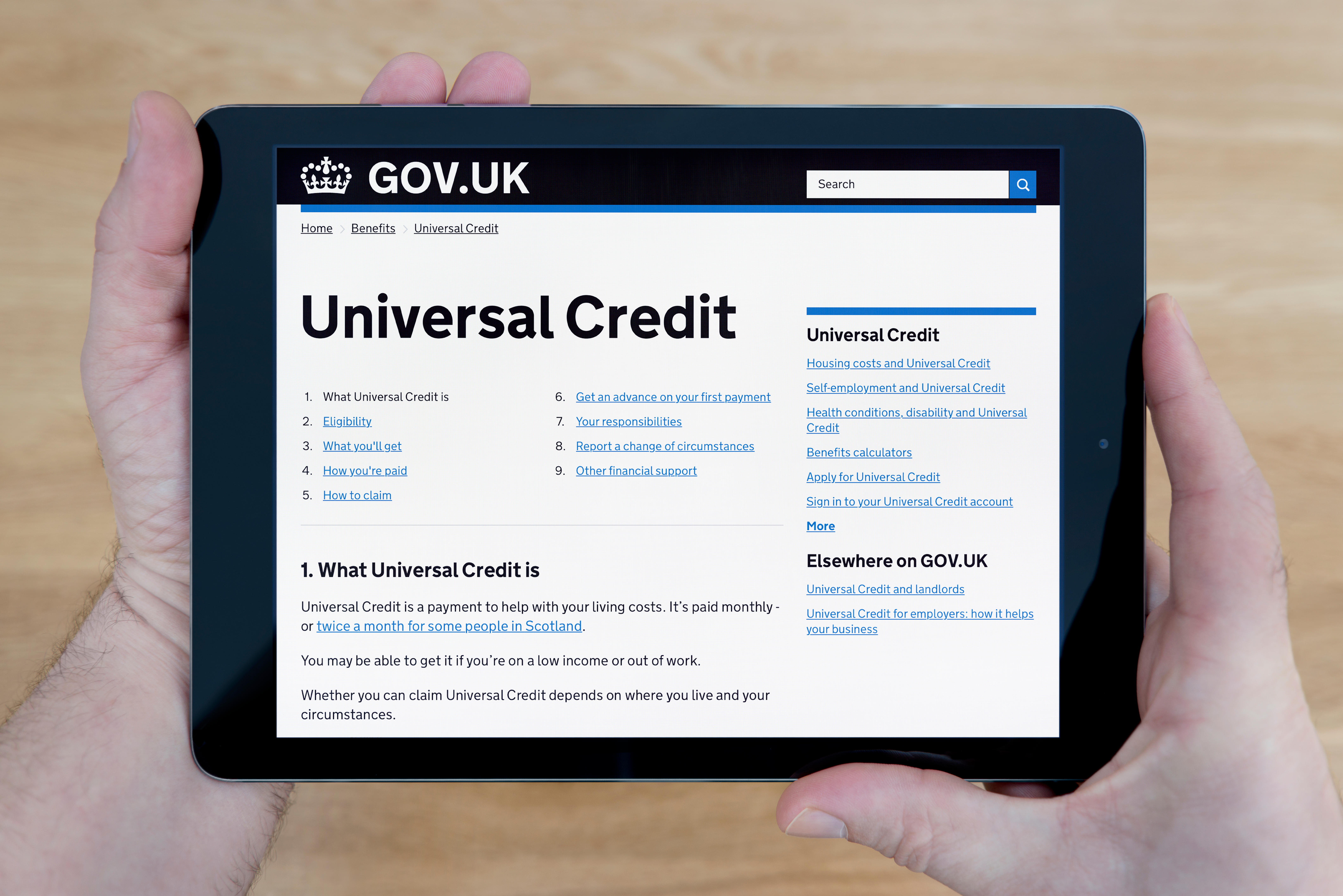 The amount of Universal Credit you are entitled to depends on a number of circumstances