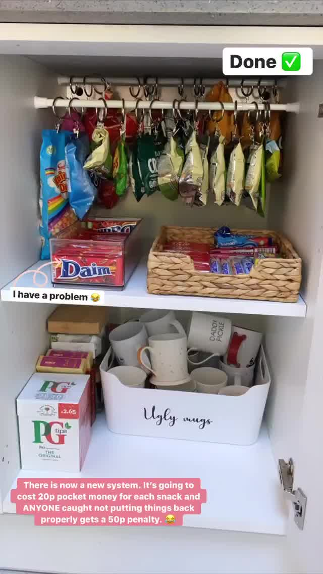 She came up with a genius parenting hack to ensure the snack cupboard remained in order
