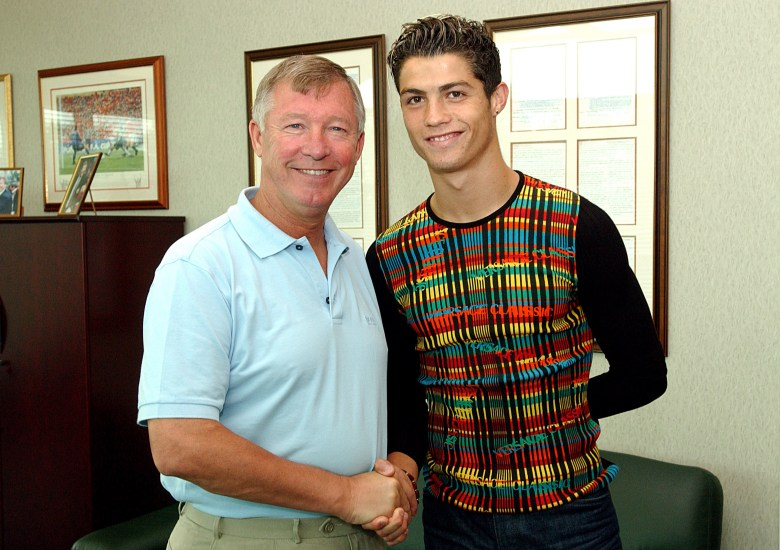 The moment Sir Alex Ferguson and Cristiano Ronaldo met a special bond formed