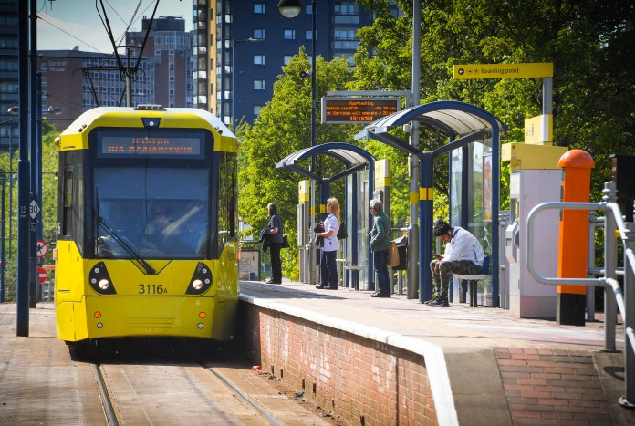 Salford is a bustling area for commuters in Manchester