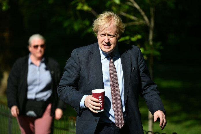 Boris once again urged people to stay at home