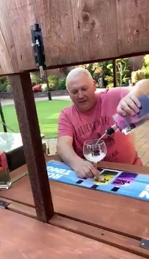 The bar allowed the two friends to stay in touch despite the lock