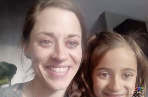 Mother Melissa witnessed her daughter being attacked