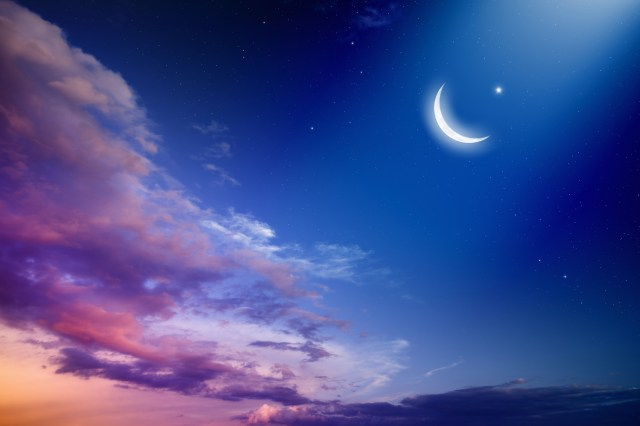 Eid al-Fitr is celebrated the day after the crescent moon is sighted