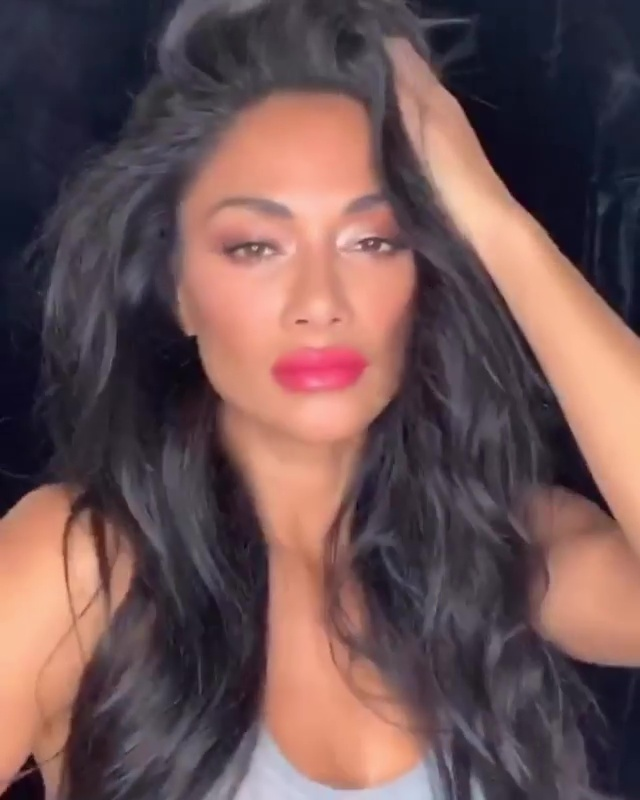 Nicole swapped her usual dark locks for a string of funky hairpieces in a crazy TikTok video to entertain fans