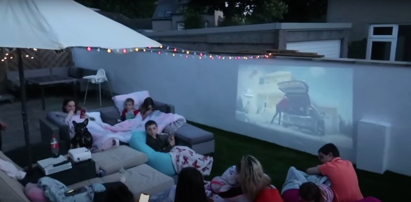 Sue revealed the amazing outdoor cinema night she created for her family in the garden