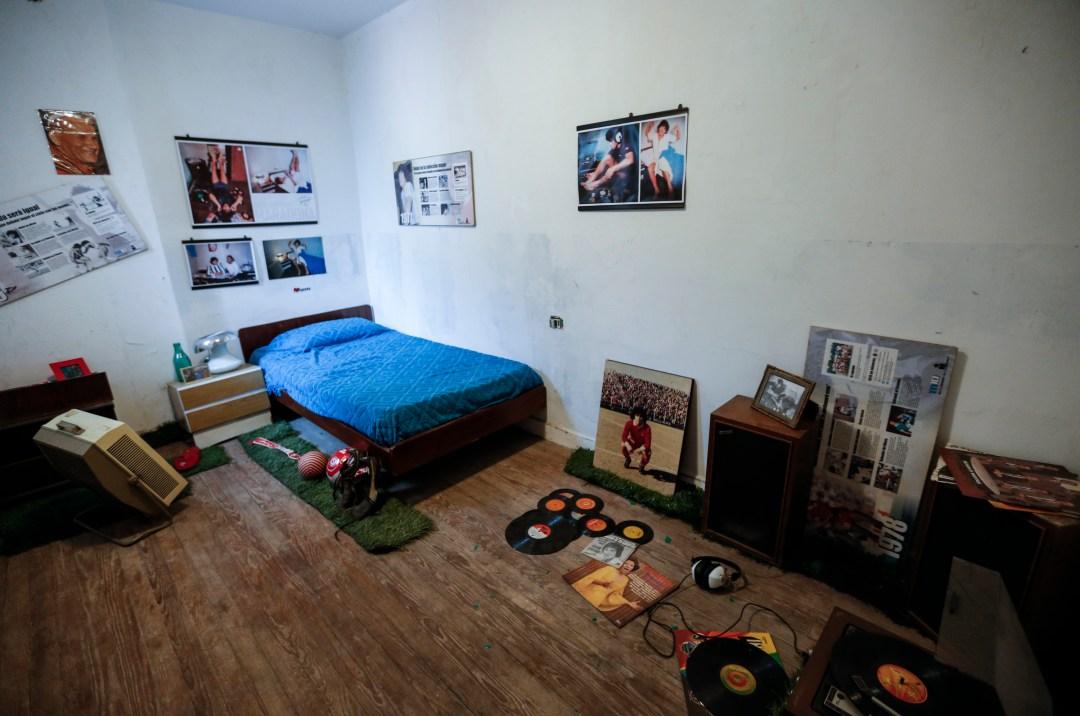 The bedroom where Maradona dreamed of future football stardom