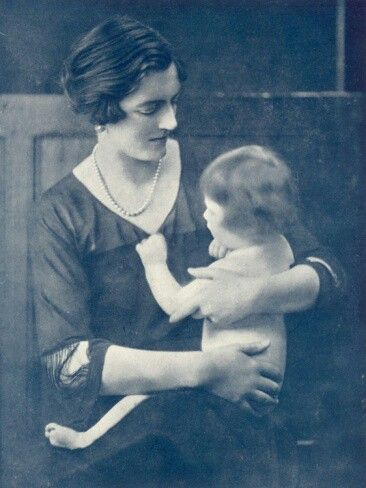 Marigold Churchill did not live beyond the age of three. She is pictured with her mother Clementine Churchill shortly after the First World War