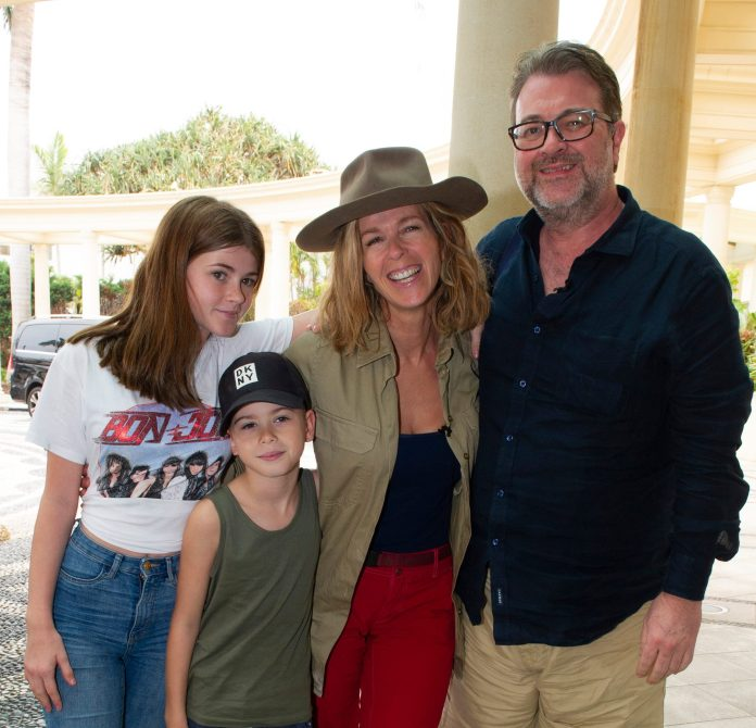 Derek, Kate and children Darcey, 14, and Billy, 10, in Australia for I'm A Celebrity
