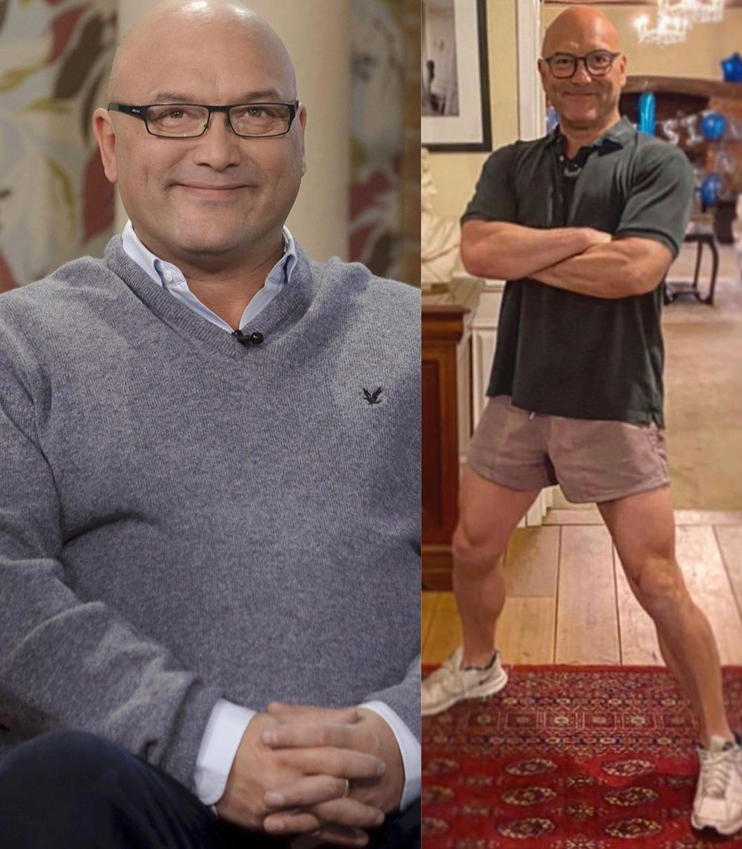 Gregg showed off his incredible four stone weight loss