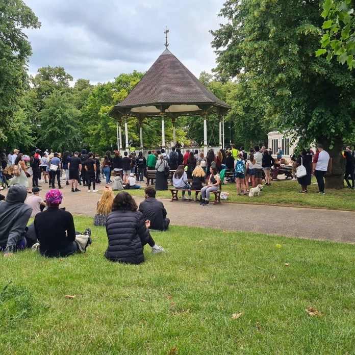 The attack took place in Forbury Gardens, Reading