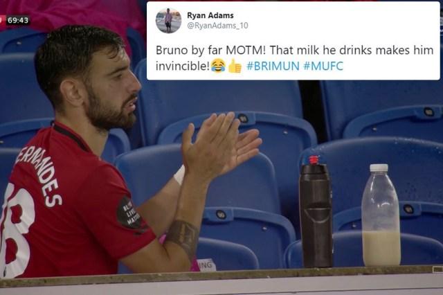 Fans joke Bruno Fernandes has revealed secret to his success as ...