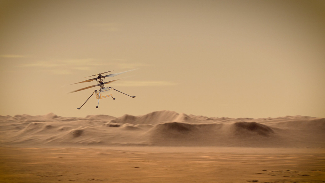 The mission features a small drone, nicknamed Ingenuity, that will test surface-to-surface powered flight on another world for the first time