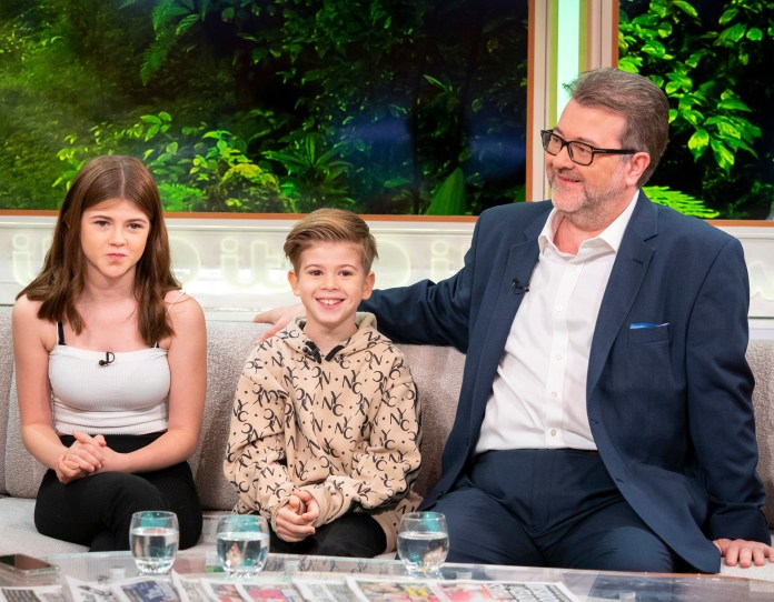 Derek with Darcey and Billy on Good Morning Britain last year