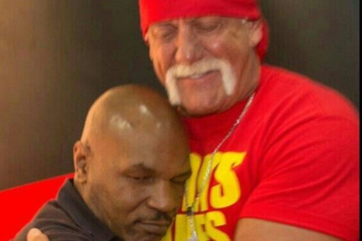 WWE icon Hulk Hogan shares sweet throwback shot hugging Mike Tyson 'years before sport world had us going at each other'