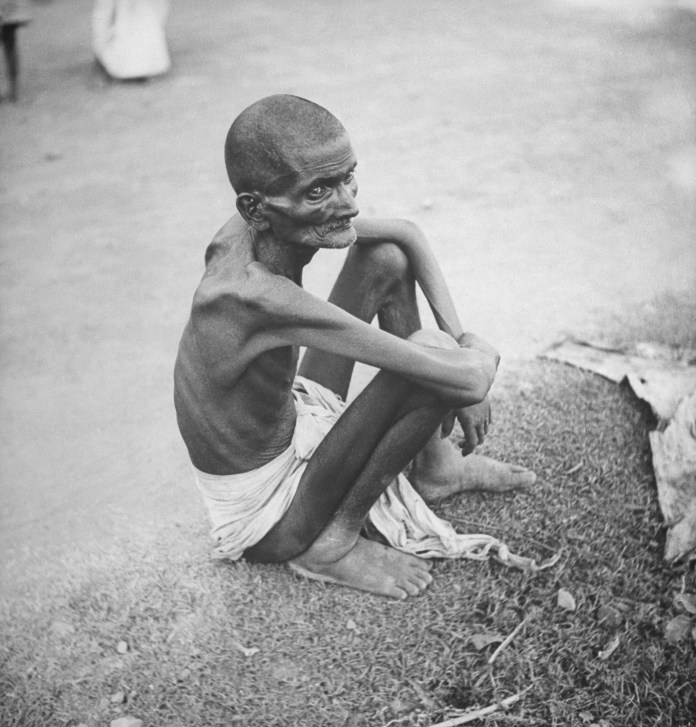 Famine hit India during WWII