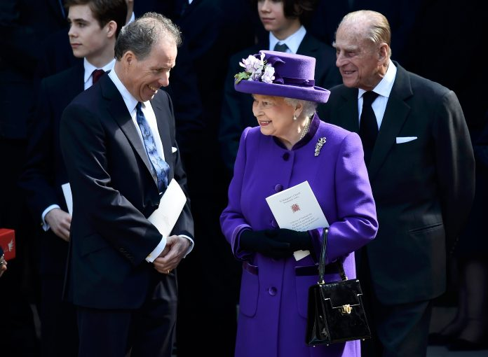 David Linley talks to the Queen and Prince Philip