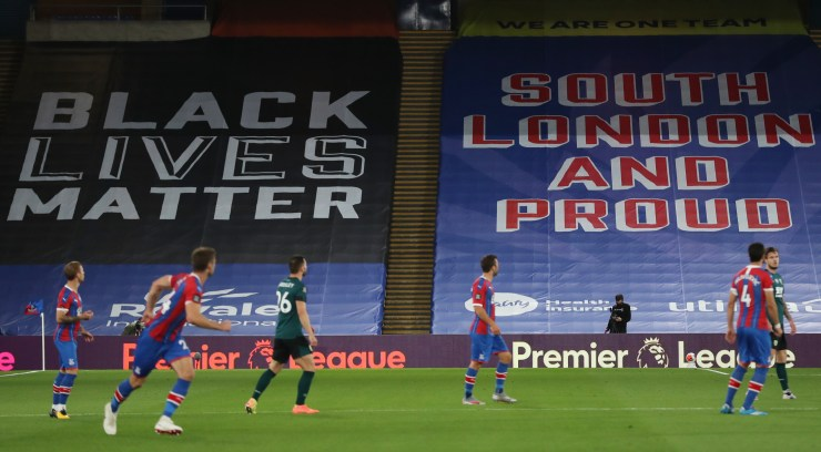 Crystal Palace have become the first Premier League side to distance themselves from the Black Lives Matter movement