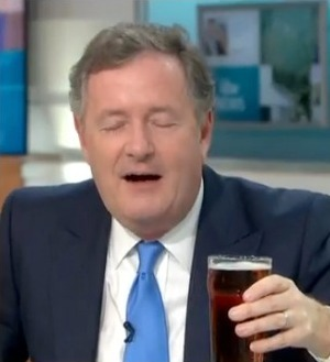 Piers couldn't believe his luck when he spotted the beer behind his desk