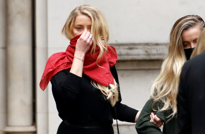 Amber Heard leaves the High Court today