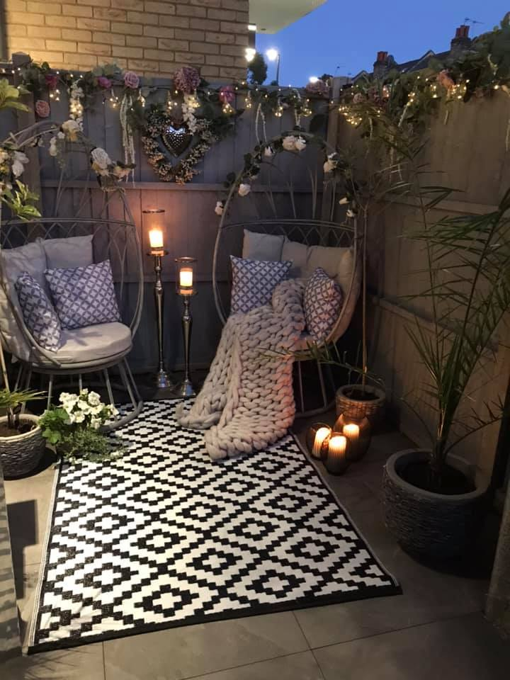 Woman Turns Drab Garden Into Chic Space With Amazon Bargains And Dunelm Egg Chairs And People Say It Looks Bigger