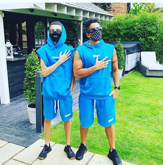 Peter Andre and his teenage son Junior are twinning in matching outfits