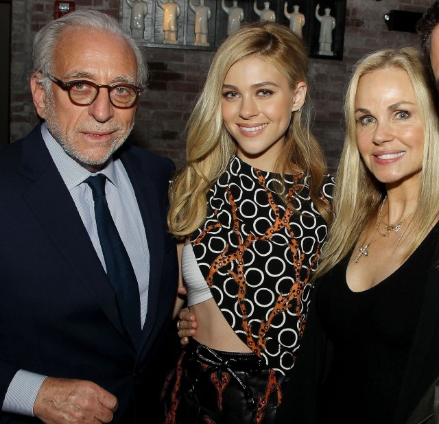 Nicola Peltz with her dad Nelson and mum Claudia