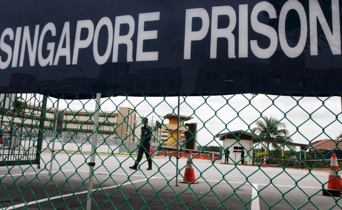 He is currently serving 20 years in the brutal Changi prison in Singapore.