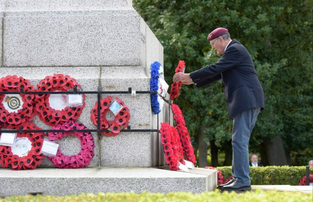 A VJ Day memorial service takes place at Sunderland War Memorial this morning