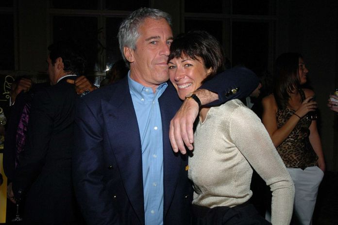 Epstein and Ghislaine Maxwell posing happily together