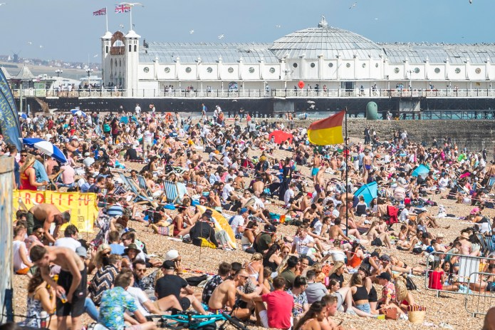 Thousands of people hit Brighton beach this weekend