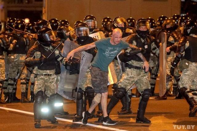 According to official data, leader Lukashenko won a landslide