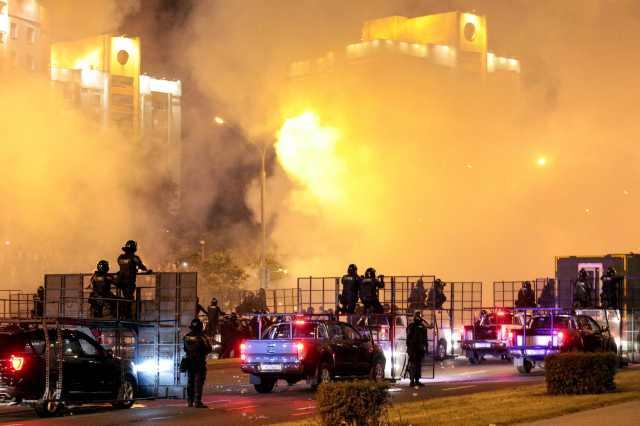 Apocalyptic scenes in Minsk after reports of Lukashenko's landslide win