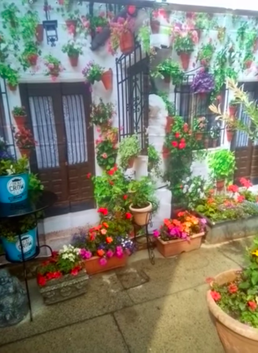 exotic garden with 10 shower curtain