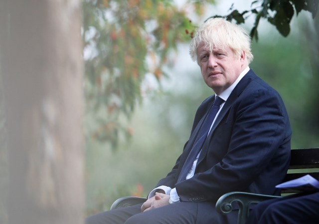 PM Boris Johnson reflects at the National Memorial Arboretum in Staffordshire