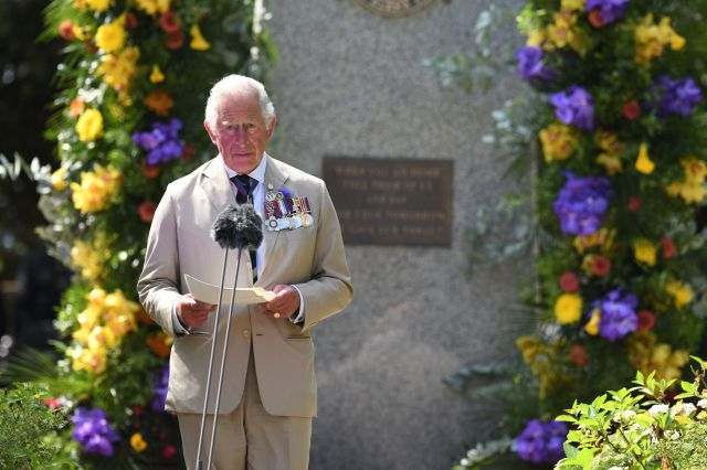Prince Charles paid tribute to the 'courage and fortitude shown by all those who fought in the region'