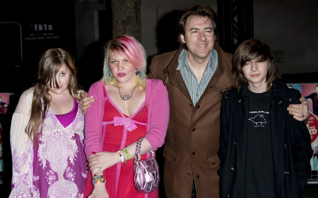 Honey, pictured left at The Boat That Rocked premiere in 2009, with sister Betty, dad Jonathan and brother Harvey