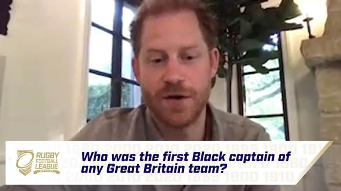 Harry joined the game's players, coaches and volunteers to lead a special Zoom virtual quiz