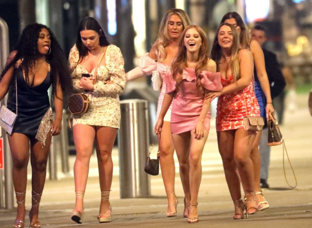 It's one of the coldest late August bank holidays on record - but that didn't stop revellers from heading out on the town