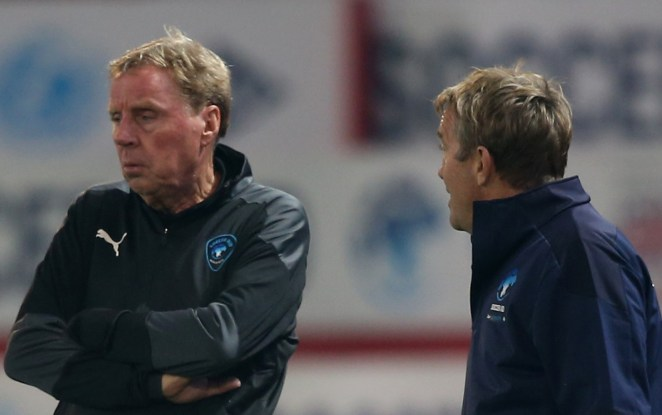 Coaches Harry Redknapp and Bradley Walsh keep an eye on their stars