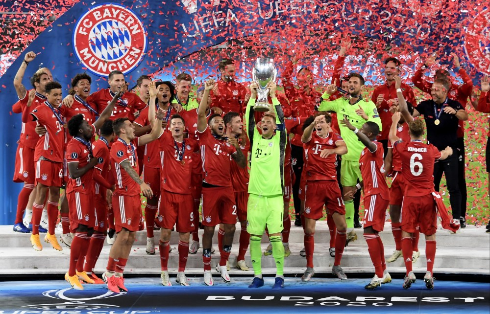 Bayern Munich 2 Sevilla 1: Martinez clinches Super Cup triumph in  extra-time after Goretkza cancels out Ocampos penalty