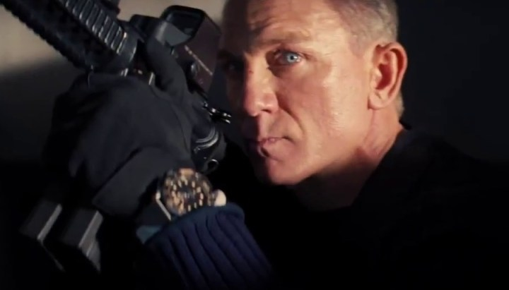 A machine-gun-toting Daniel Craig is back as Bond in the new No Time To Die trailer