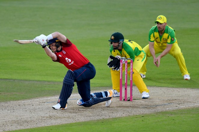 Sam Billings also feel cheaply for England, making four as they made just 145-6 from their 20 overs