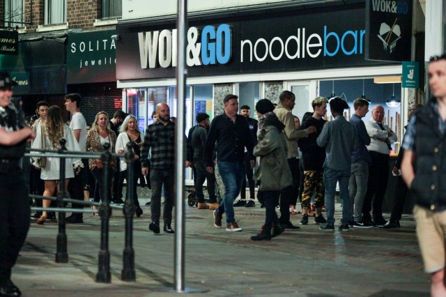 Crowds descended on Nottingham for one last blow out