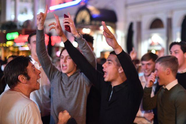Friends singing in London last night