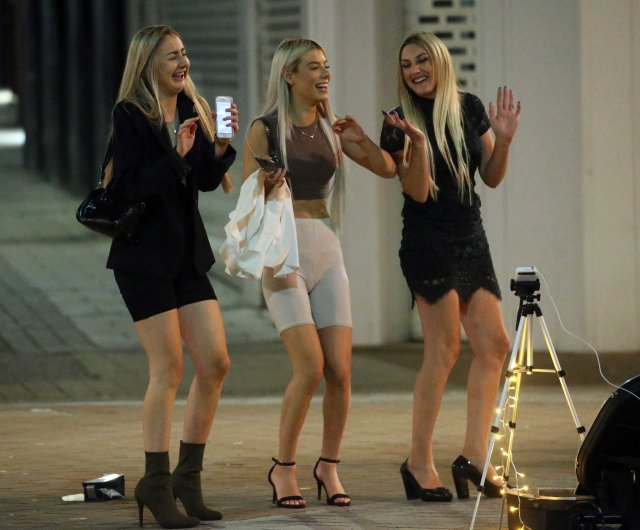 While revellers partied into the early hours in Leeds