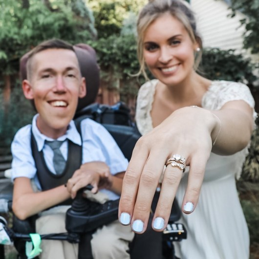 Bride of disabled husband hits back at cruel trolls who claim her marriage  is a sham & she's only with him for his money - ApnaSite