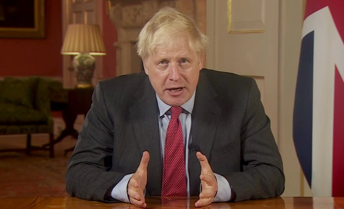 It came after Prime Minister Boris Johnson addressed the nation for real