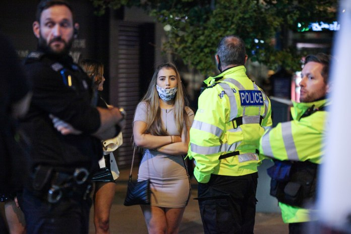 In Nottingham, police were called to disperse the crowd