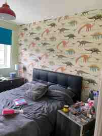 Doting Daughters Turn Mum Of Six S Childish Dinosaur Themed Bedroom Into A Chic Space Using B M And Primark Bargains